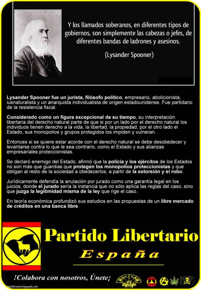 lisander spooner partido libertario liberal anarcocapitalista