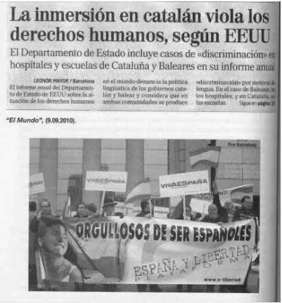 Un informe de EEUU señala que la inmersión del catalán viola los derechos humanos